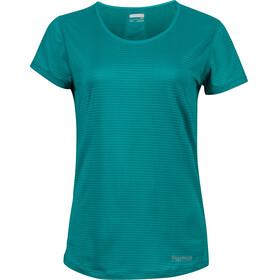 Marmot Aero Kortærmet T-shirt Damer petroleumsgrøn